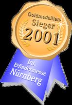 Bikerdream - Goldmedaillensieger bei der Erfindermesse in Nürnberg 2001 (Auszeichnung)